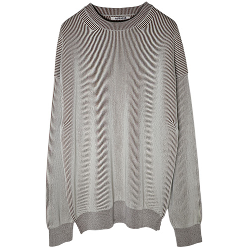 AURALEE/SUPER HARD TWIST RIB KNIT P/O