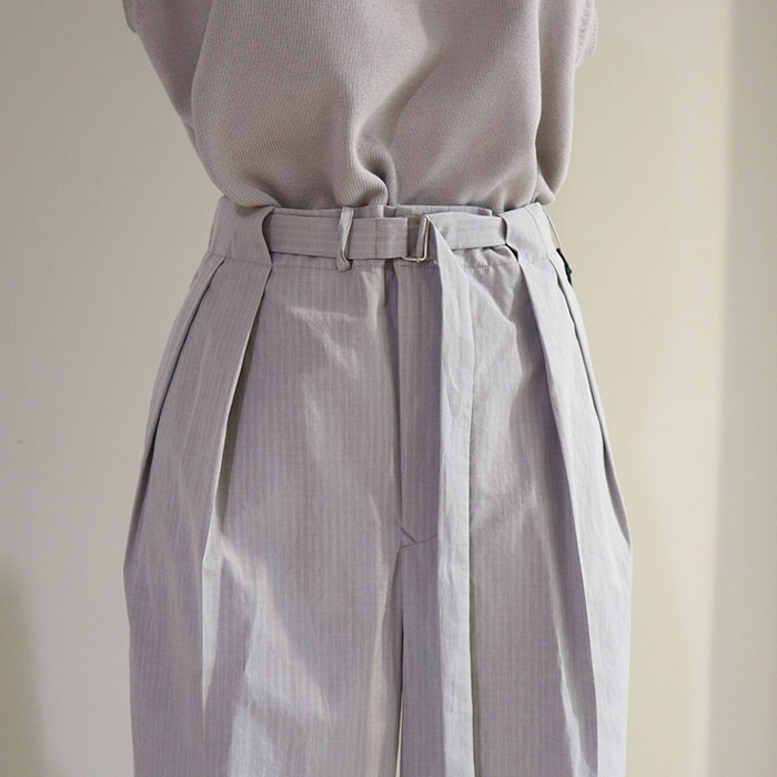 AURALEE/WASHED FINX RIPSTOP CHAMBRAY BELTET PANTS