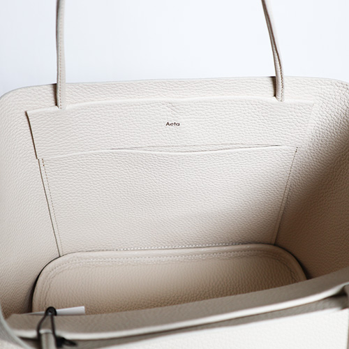 Aeta/PG18 PEBBLE GRAIN LEATHER TOTE :S