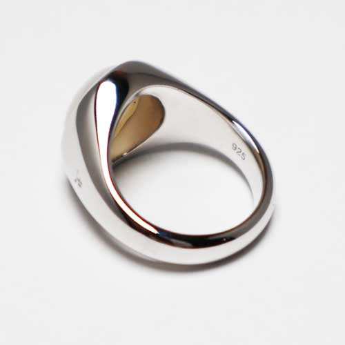 TOMWOOD/dome ring gray moonstone