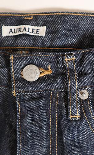 AURALEE/HARD TWIST DENIM 5P PANTS 再入荷