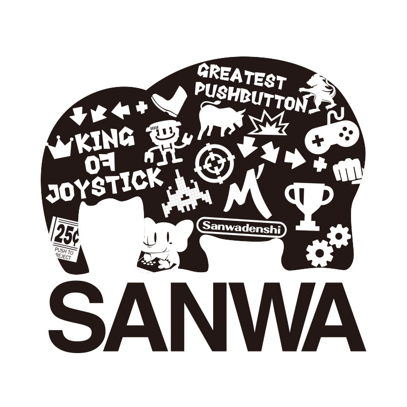 SANWA Tシャツ ロゴコラージュ