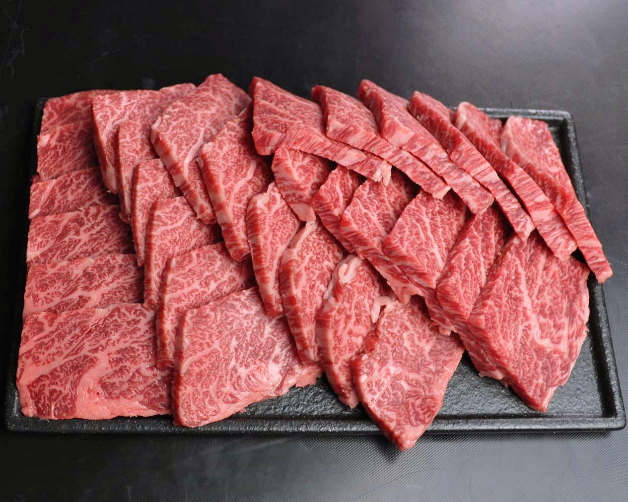 黒毛和牛焼肉赤身 1000g【簡易トレーパック】<MYK100>
