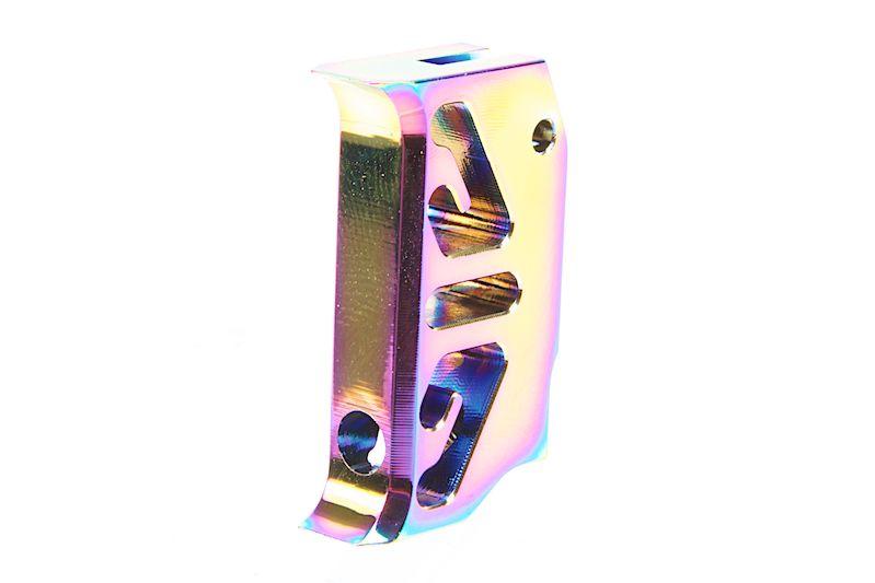 COWCOW Aluminum CNC Trigger T2 for TM Hi-Capa 1911 GBB Rainbow CCT-TMHC-122