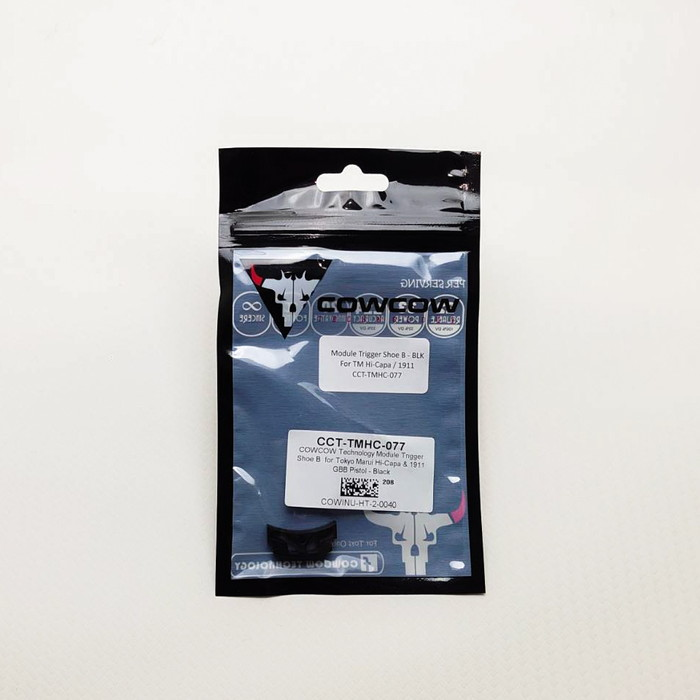 COWCOW CCT-TMHC-077 Module Trigger Shoe B for Marui Hi-Capa 1911 GBB Pistol BK