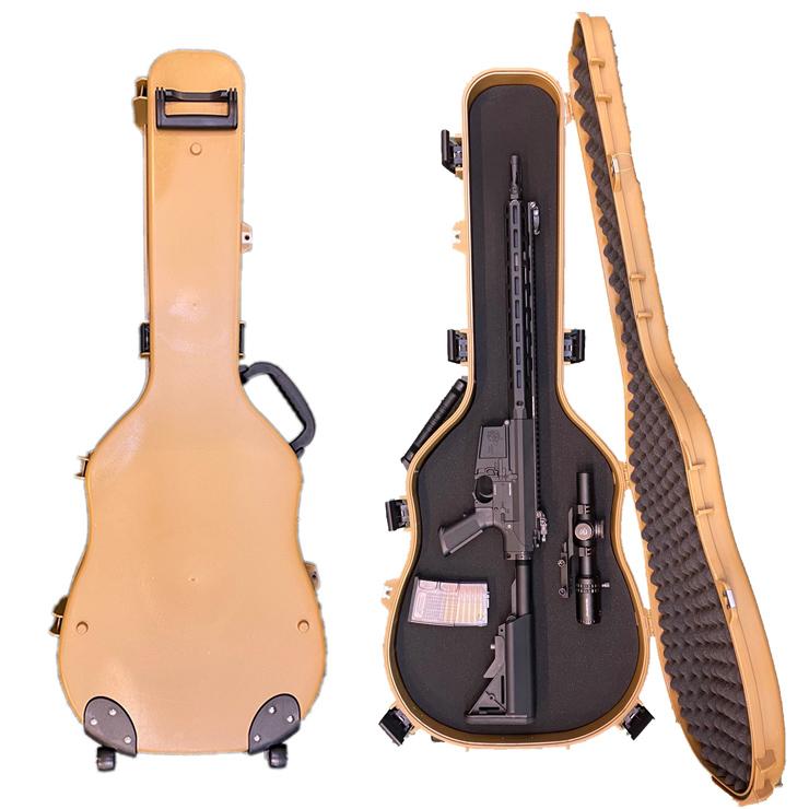 キャスター付き楽器ケース型ガンケース 2色 DE BK