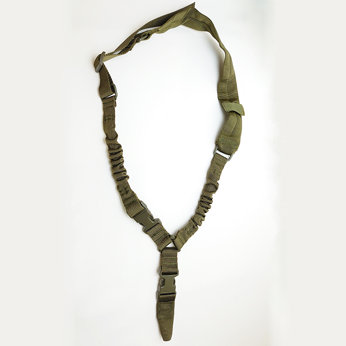 AMOMAX AM-SS020G Padded Single Point Sling with HK style clip for Heavy Duty OD Green