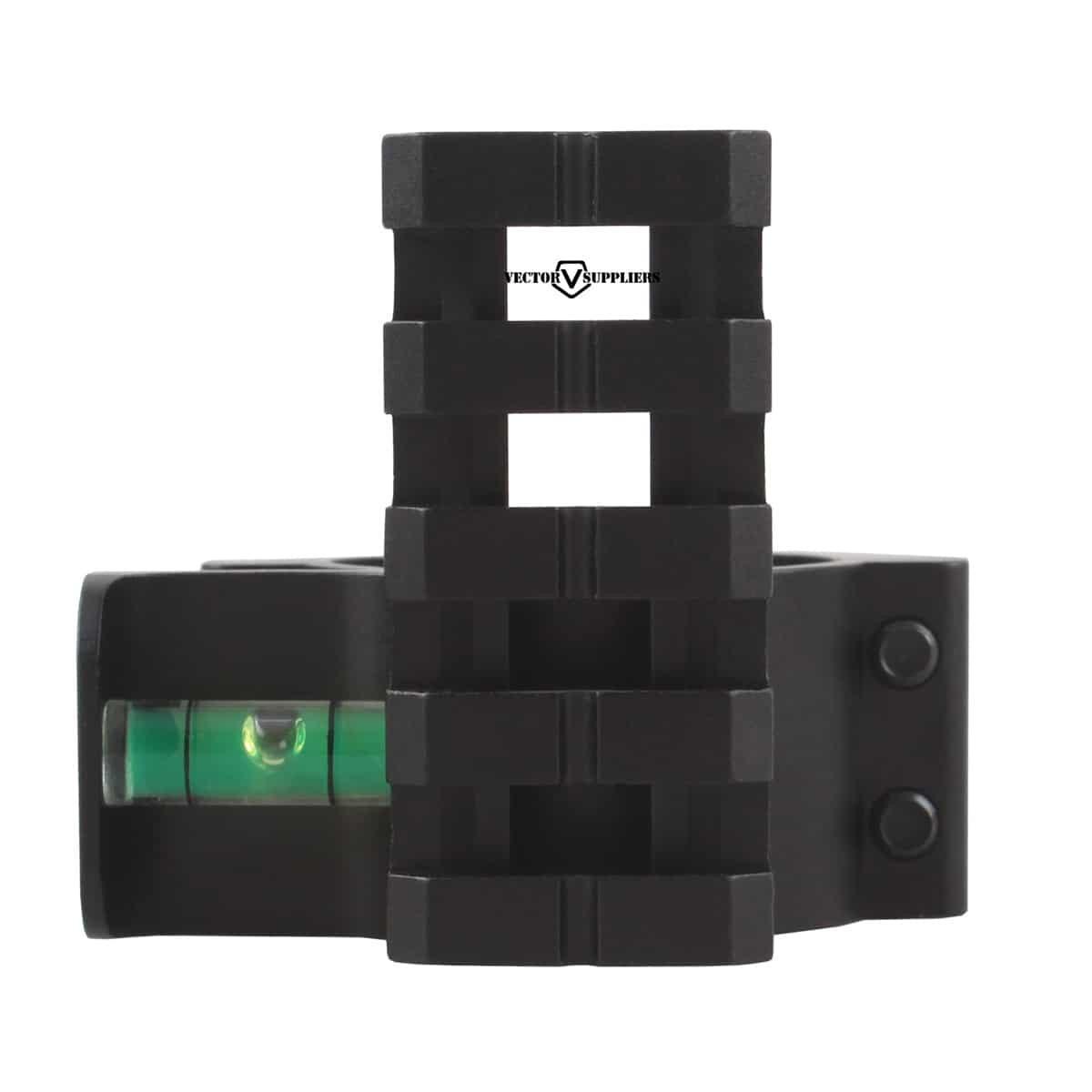 Vector Optics SCACD-07 30/25.4mm Offset Level Ring w/ Top Rail
