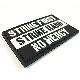 パッチ1022 STRIKE FIRST STRIKE HARD NO MERCY PVC