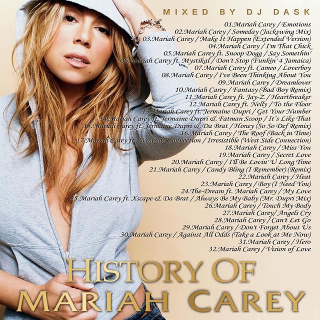 【世界の歌姫 Mariah Careyベスト!!】 DJ DASK / History of Mariah Carey [DKCD-292]