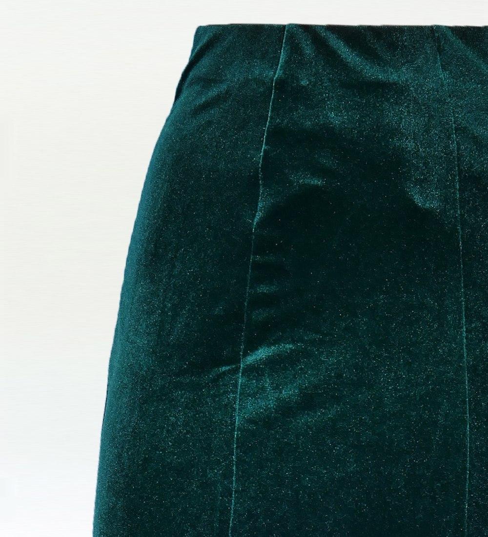 フラメンコ ベルベット マーメイド スカート グリーン 1905grb