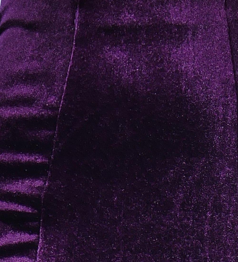フラメンコ ベルベット マーメイド スカート パープル 1905pub