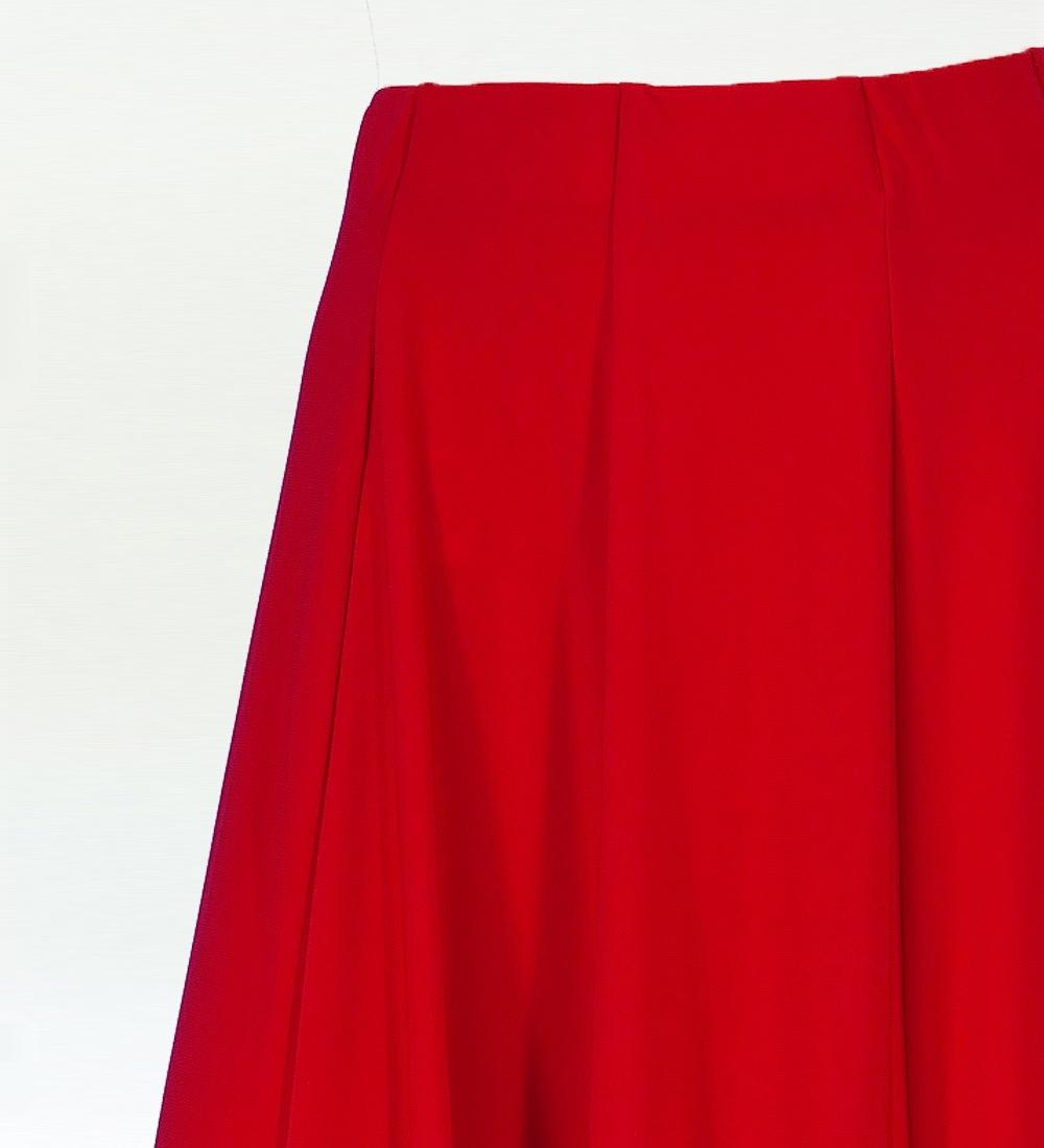 フラメンコ ローズ&ペイズリーフリル ファルダスカート レッド 1900r