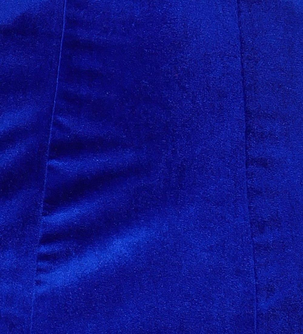 フラメンコ ベルベット マーメイド スカート ロイヤルブルー 1905rblb