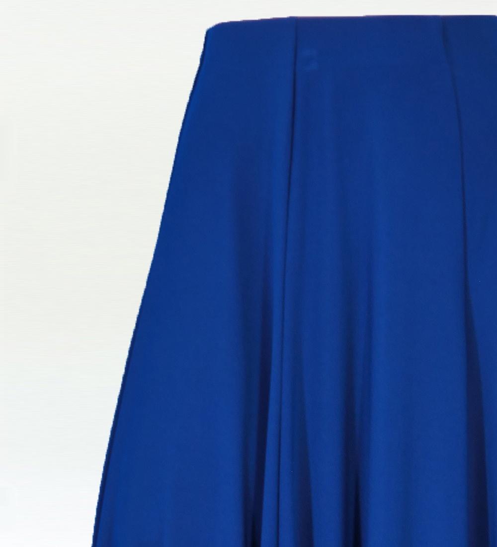 フラメンコ 無地 裾フリル ファルダ スカート ブルー 2409bl