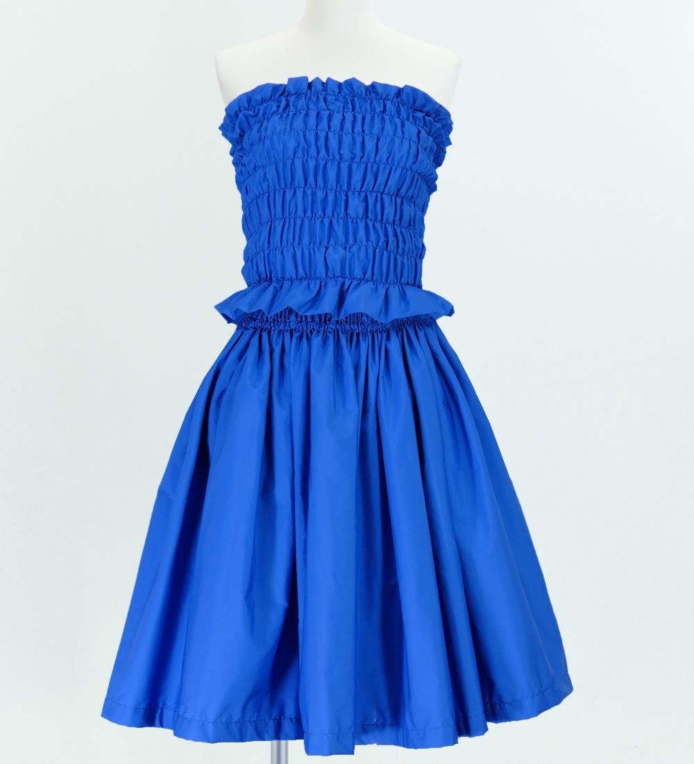 フラダンス パウスカート&チューブトップブラウス セット ブルー 1670rb