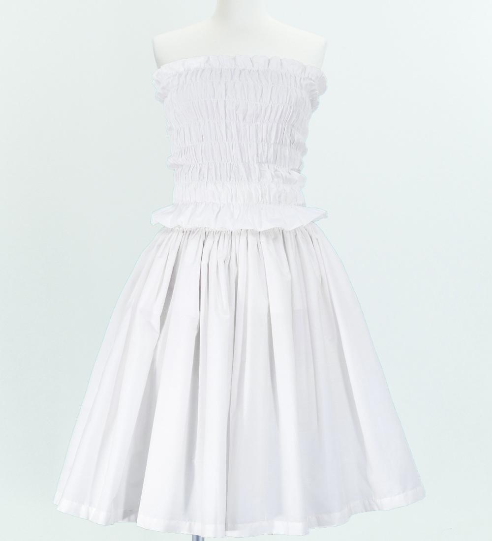 フラダンス パウスカート&チューブトップブラウス セット ホワイト 1670w