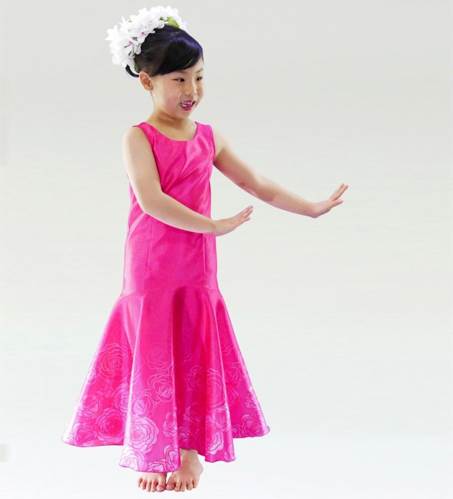 フラダンス ケイキ ロケラニシャンタンドレス ピンク p36pi