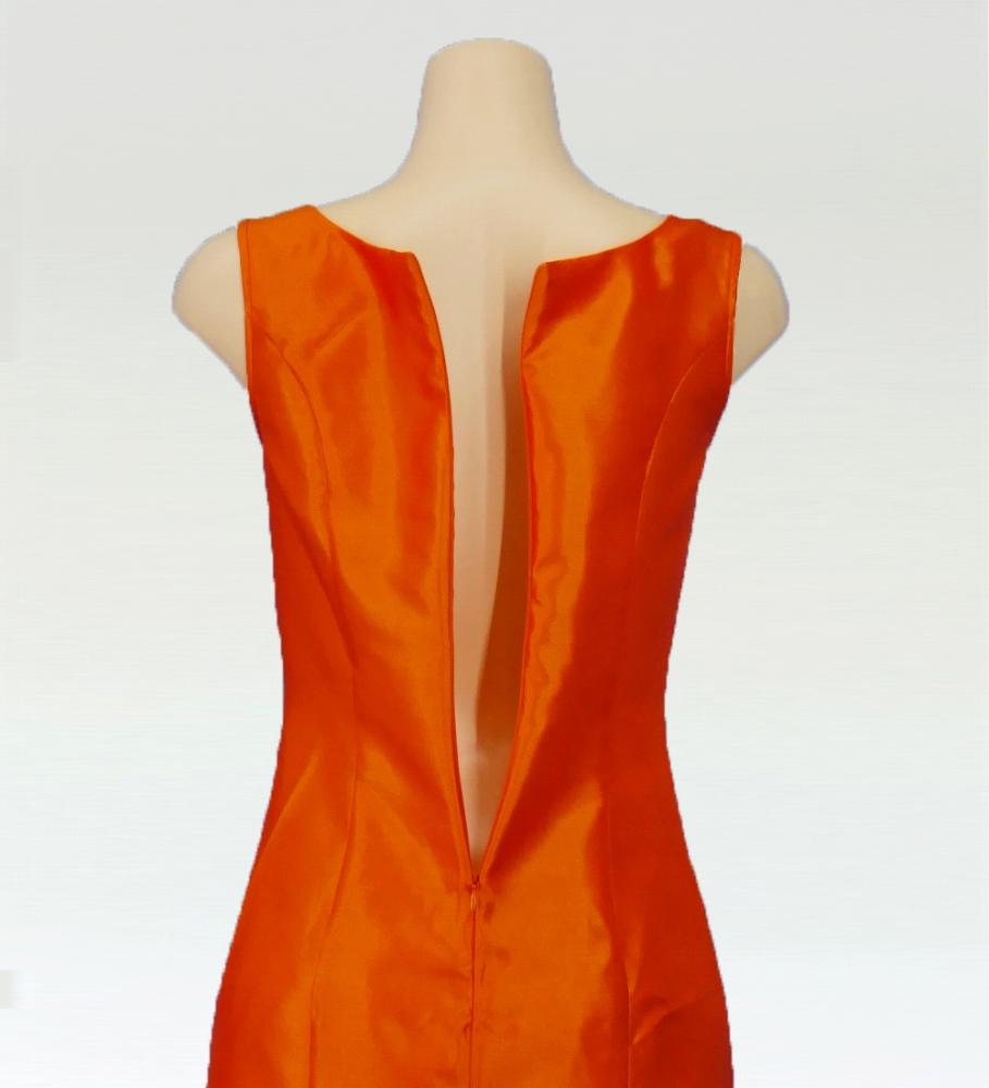フラダンス レフアシャンタンロングドレス オレンジ 2555or