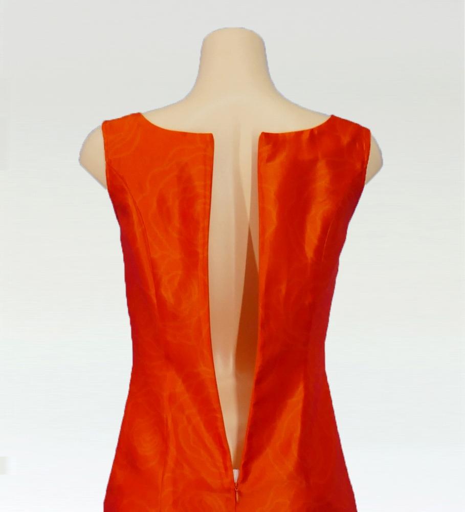 フラダンス ロケラニシャンタンロングドレス オレンジ 2556or