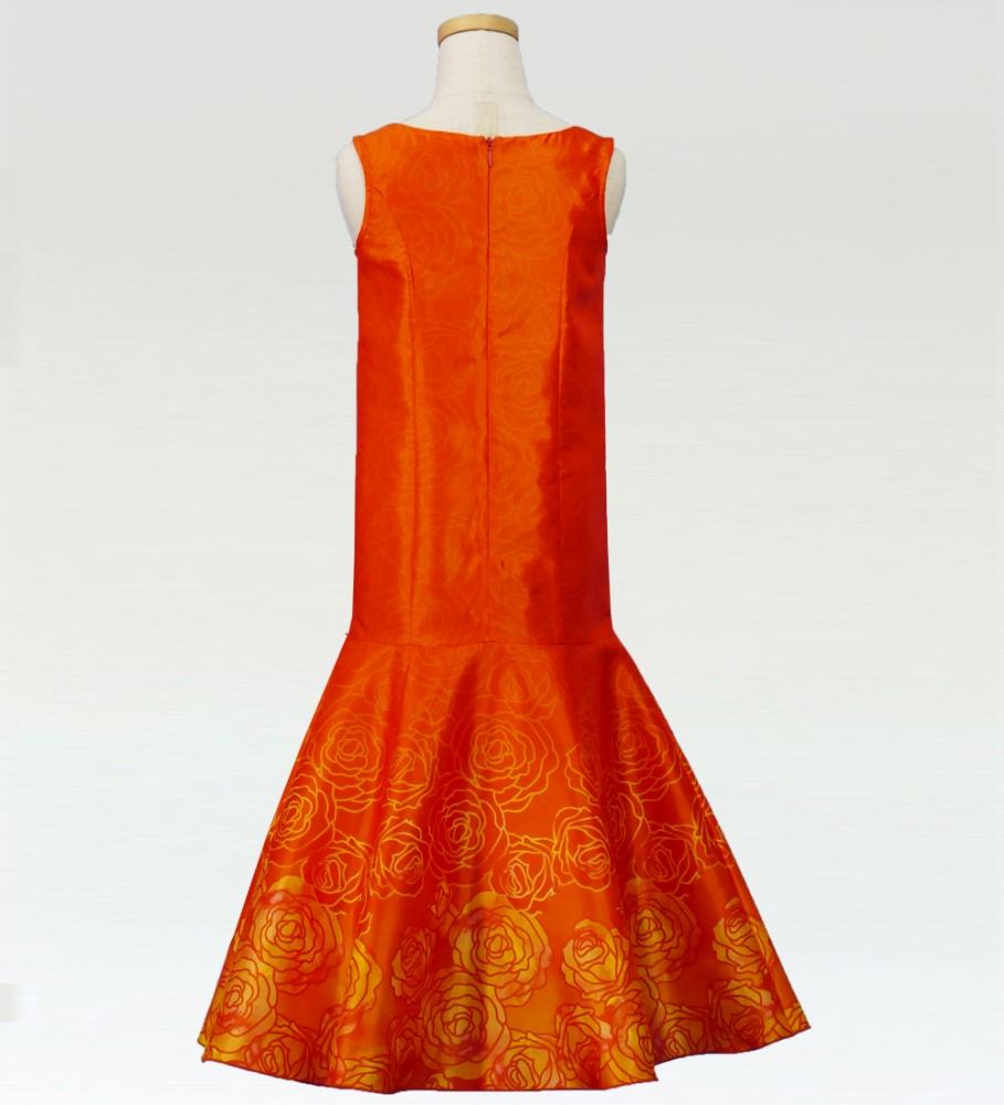 フラダンス ケイキ ロケラニシャンタンドレス オレンジ p36or
