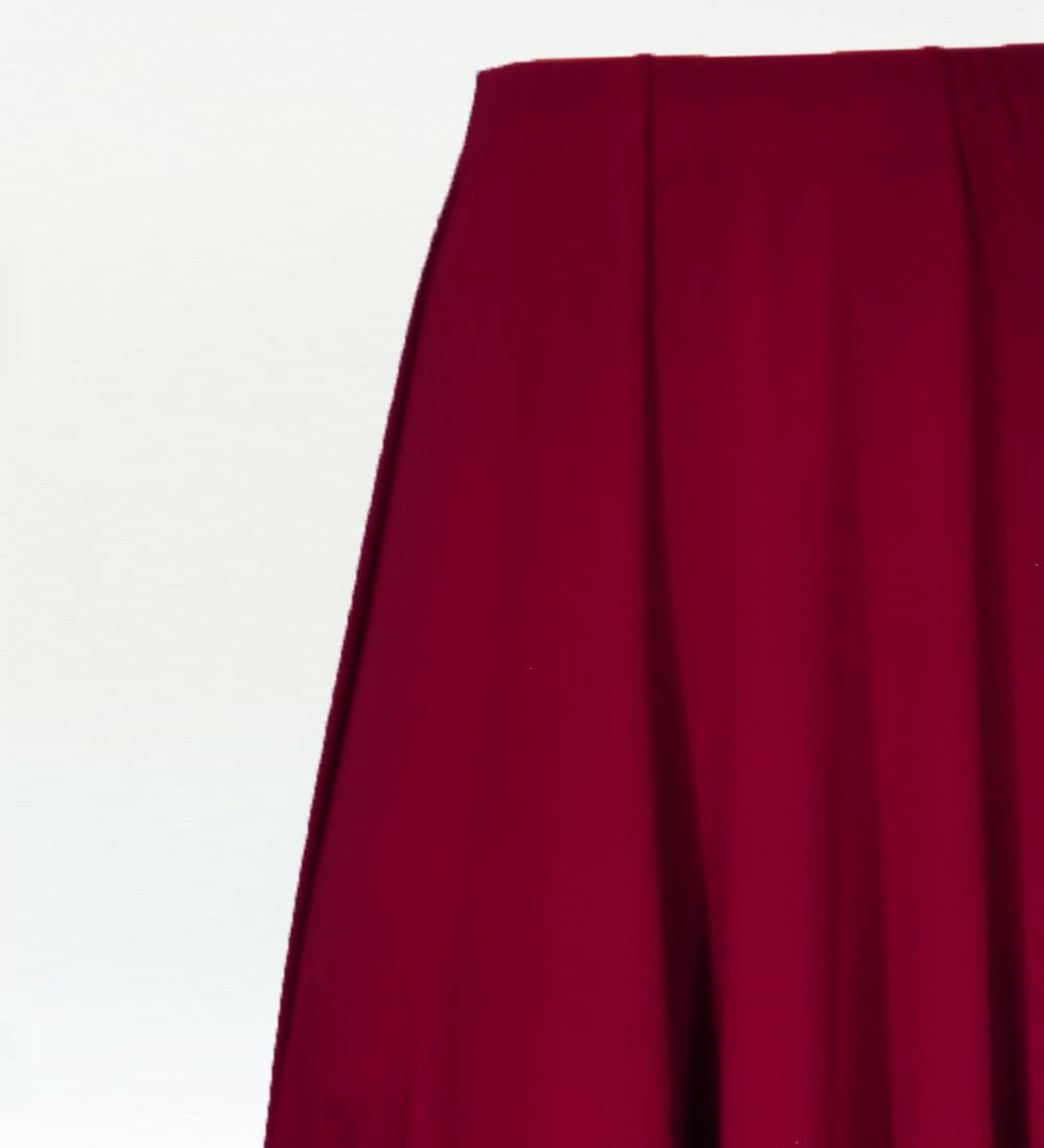 フラメンコ ローズ フリルファルダ スカート ワイン×オレンジ 2353wio