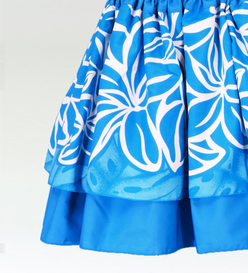 フラダンス ケイキ ダブルパウスカート キッズサイズ ブルー p15