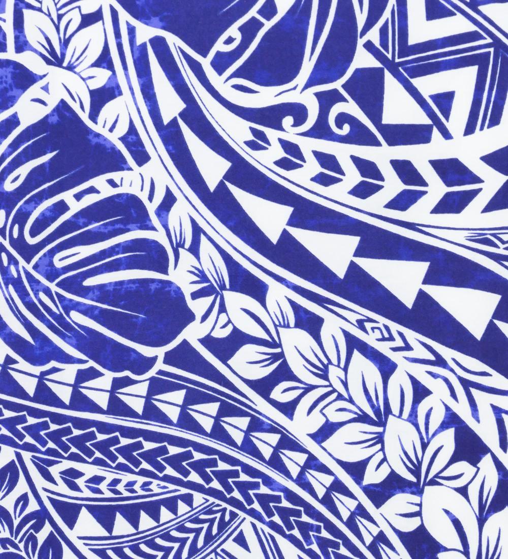 フラダンス パウスカート シングル ブルー 2695