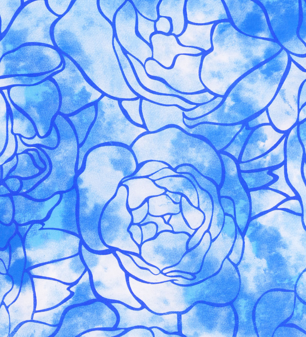 フラダンス パウスカート シングル ブルー 2615