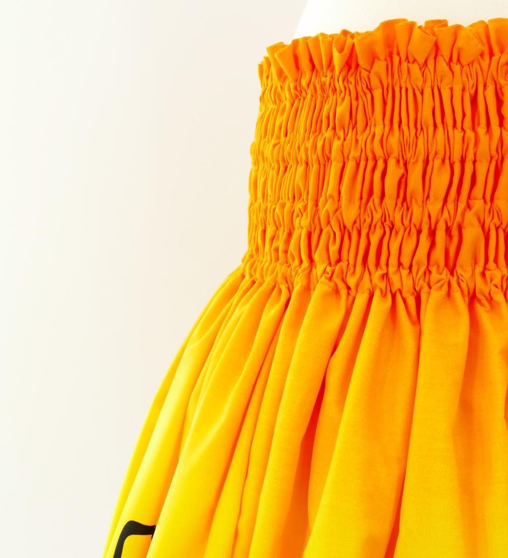 フラダンス パウスカート シングル オレンジ×レッド 2619