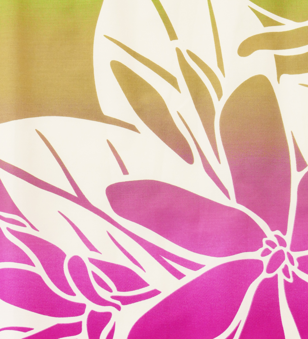 フラダンス パウスカート シングル グリーン×ピンク 2623