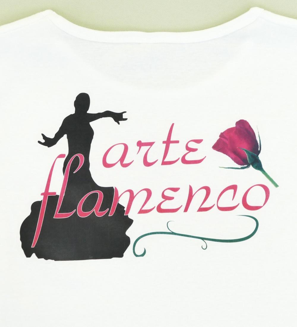 フラメンコ バイレバックプリント Tシャツ ホワイト 488w