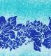フラダンス ダブル リバーシブル パウスカート 73cm丈 ブルー 2190