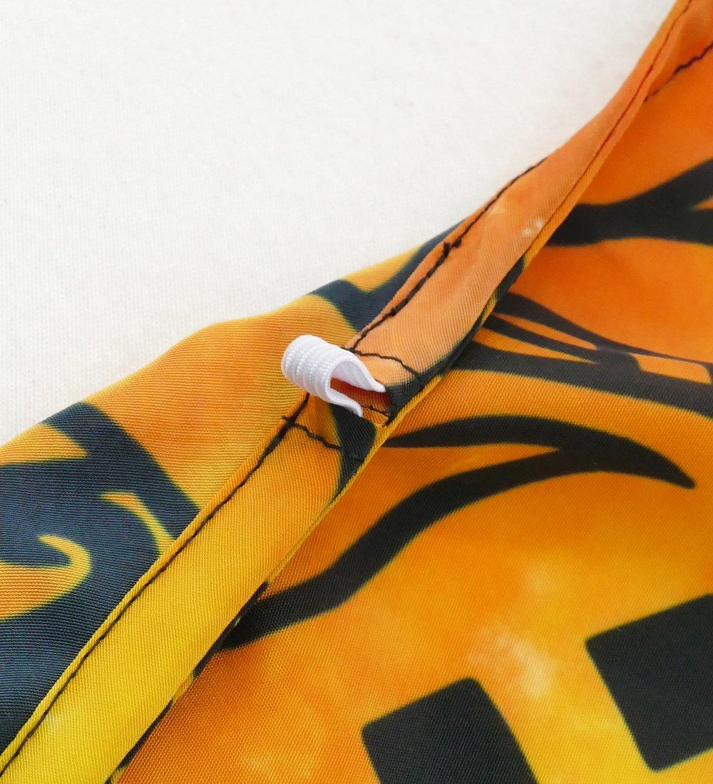 フラダンス コシボケープ ストレリチア×カヒコ柄 オレンジ Fサイズ J2705