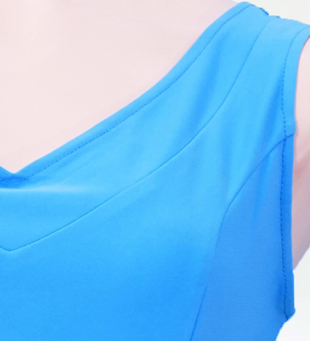 Mサイズ フラメンコ ブラウス ライトブルー 2433lblF