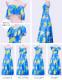 フラドレス マルチウェイロング丈 ライトブルー S,M,L,LLサイズ J2482lbl