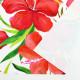 ハワイアン生地 ハイビスカス柄 ストレッチベロア生地 ホワイト KH-556-WH-V