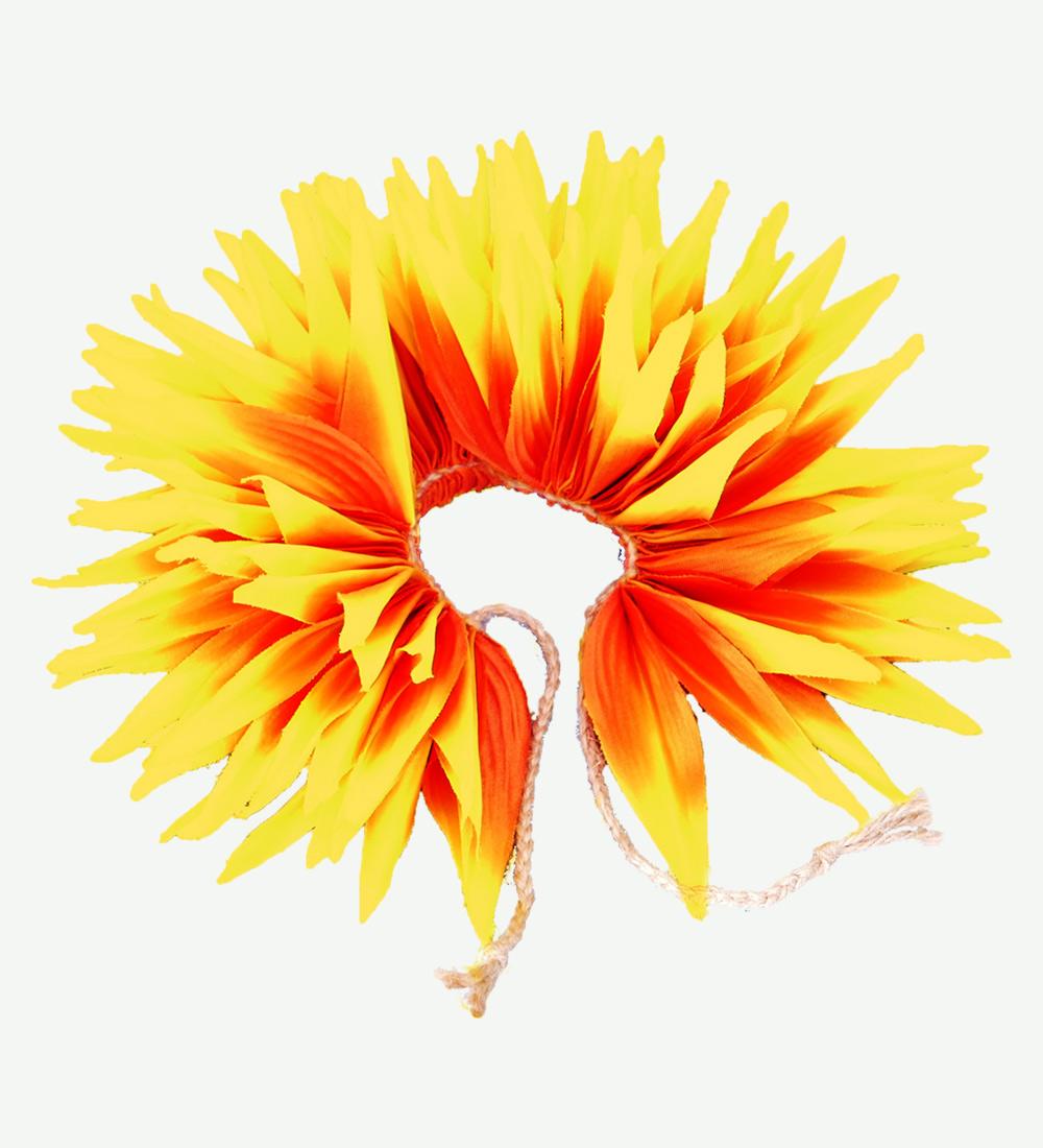 フラダンス バードオブパラダイス アクセサリー イエロー×オレンジ 2441yeor