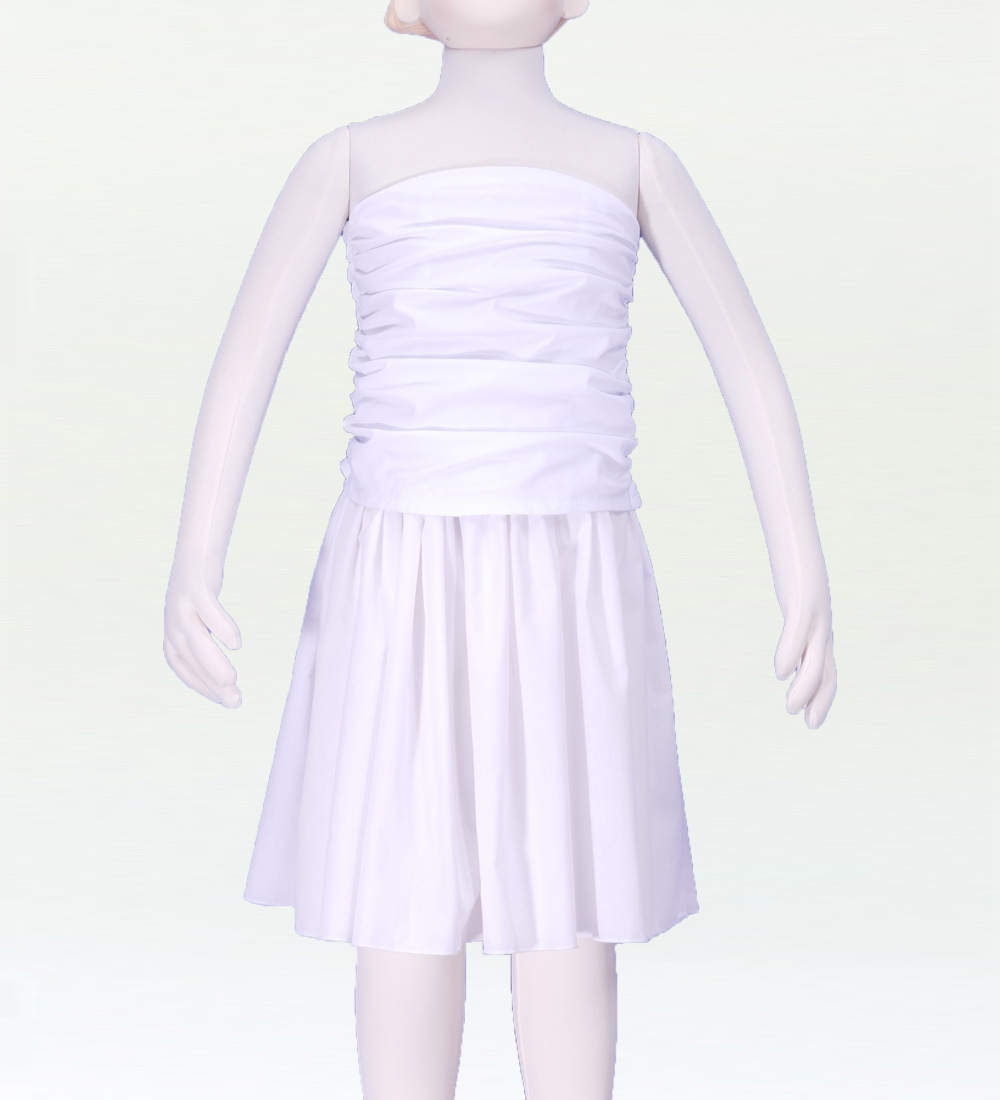 フラダンス ケイキ ドレープブラウス  ホワイト  p33wh