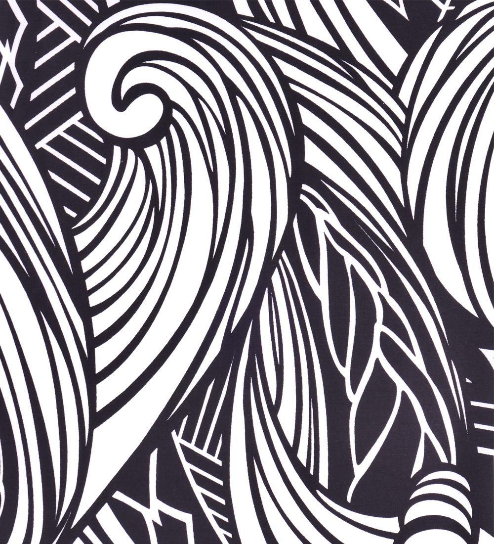 フラダンス パウスカート シングル78cm丈 ブラック 2539