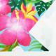 ハワイアン生地 ハイビスカス柄 ストレッチベロア生地 ライトブルー KH-556-LBL-V