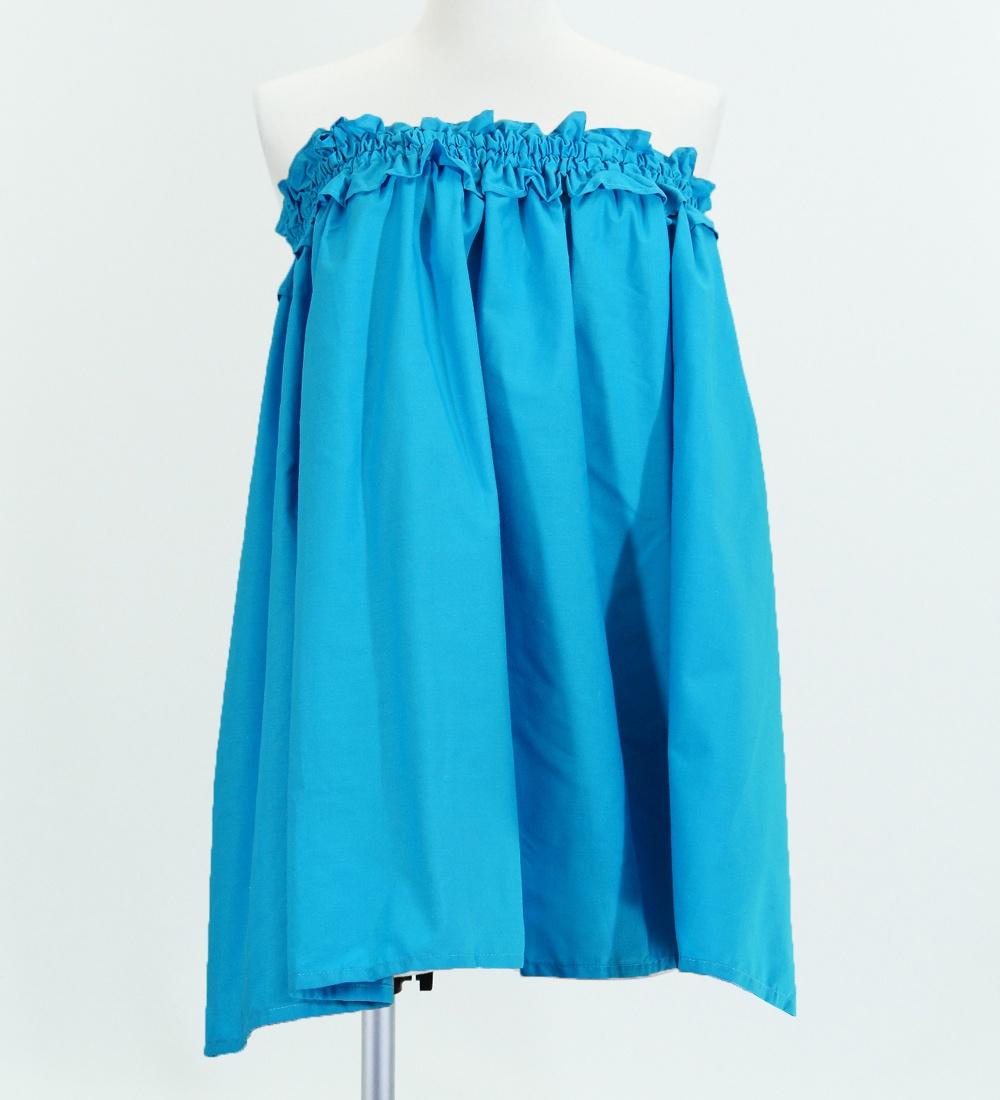 フラダンス パウスカート&チューブトップ セット ブルー  2257bl