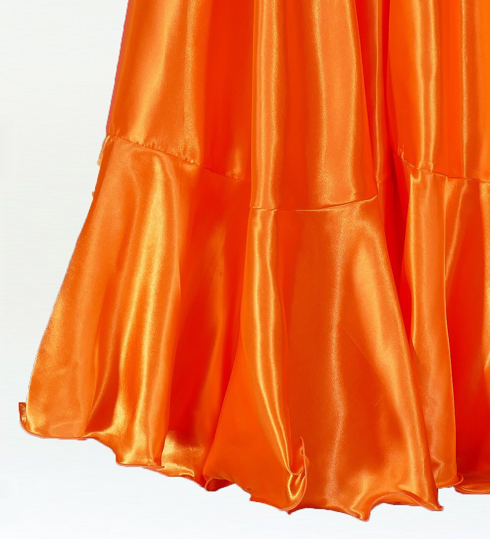 Mサイズ フラメンコ ペチコート オレンジ 152o