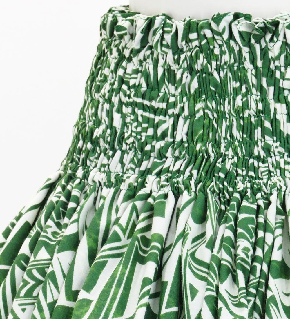 フラダンス パウスカート シングル78cm丈 グリーン 2694