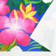 ハワイアン生地 ハイビスカス柄 ストレッチベロア生地 ブルー KH-556-BL-V