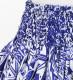 フラダンス パウスカート シングル78cm丈 ブルー 2696
