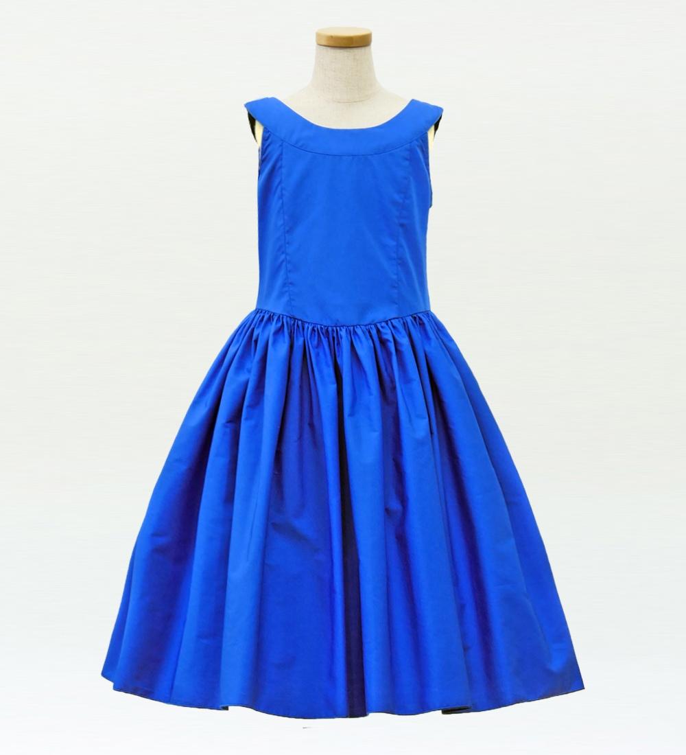フラダンス ケイキ [120]ミディ丈ヨークドレス ブルー p34bl120