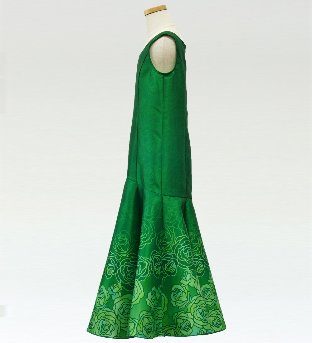フラダンス ケイキ ロケラニシャンタンドレス グリーン 120サイズ p36gr120