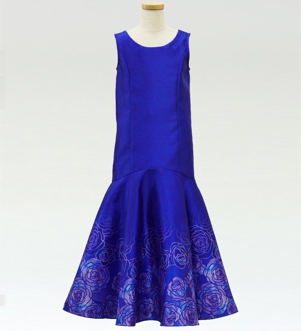 フラダンス ケイキ ロケラニシャンタンドレス ブルー 120サイズ p36bl120