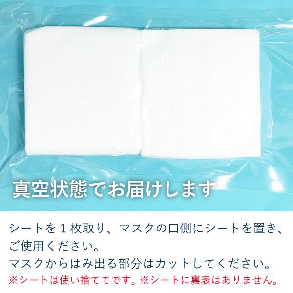 マスク取替えシート フィルター 使い捨て 100枚セット 1mksheet100
